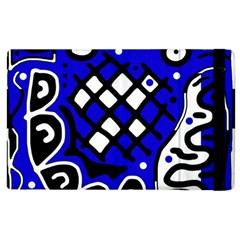 Blue High Art Abstraction Apple Ipad 2 Flip Case by Valentinaart
