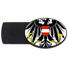 Coat of Arms of Austria USB Flash Drive Oval (4 GB)  by abbeyz71