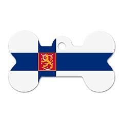 State Flag Of Finland  Dog Tag Bone (one Side) by abbeyz71