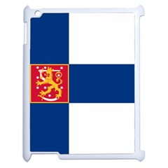 State Flag Of Finland  Apple Ipad 2 Case (white) by abbeyz71