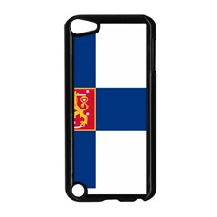 State Flag Of Finland  Apple Ipod Touch 5 Case (black) by abbeyz71