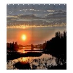 SUNSET MOODS  SHOWER CURTAIN FORMATTED TEMPATE FOR :  Shower Curtain Template  Shower Curtain - Shower Curtain 66  x 72  (Large)