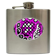 Magenta High Art Abstraction Hip Flask (6 Oz) by Valentinaart