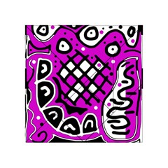 Magenta High Art Abstraction Acrylic Tangram Puzzle (4  X 4 ) by Valentinaart