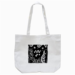 Black And White High Art Abstraction Tote Bag (white) by Valentinaart