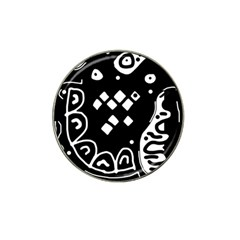 Black And White High Art Abstraction Hat Clip Ball Marker (10 Pack) by Valentinaart