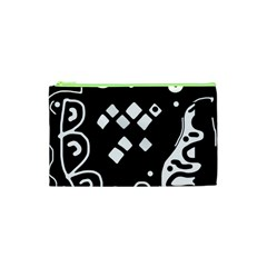 Black And White High Art Abstraction Cosmetic Bag (xs) by Valentinaart