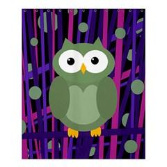 Green And Purple Owl Shower Curtain 60  X 72  (medium)  by Valentinaart