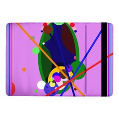 Pink Artistic Abstraction Samsung Galaxy Tab Pro 10 1  Flip Case by Valentinaart