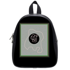 Gray Abstract Art School Bags (small)  by Valentinaart