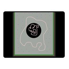 Gray abstract art Fleece Blanket (Small) by Valentinaart