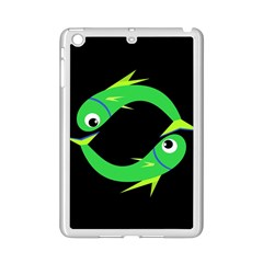 Green Fishes Ipad Mini 2 Enamel Coated Cases by Valentinaart