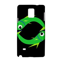 Green Fishes Samsung Galaxy Note 4 Hardshell Case by Valentinaart