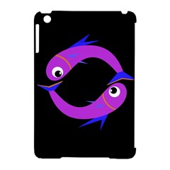 Purple Fishes Apple Ipad Mini Hardshell Case (compatible With Smart Cover) by Valentinaart