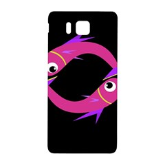 Magenta Fishes Samsung Galaxy Alpha Hardshell Back Case by Valentinaart