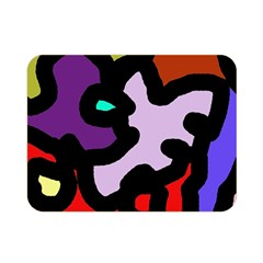 Colorful Abstraction By Moma Double Sided Flano Blanket (mini)  by Valentinaart
