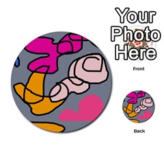 Colorful Abstract Design By Moma Multi Purpose Cards (round)  by Valentinaart