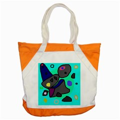 Blue Comic Abstract Accent Tote Bag by Valentinaart