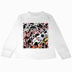 Colorful Chaos By Moma Kids Long Sleeve T Shirts by Valentinaart