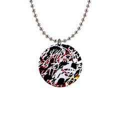 Colorful chaos by Moma Button Necklaces by Valentinaart