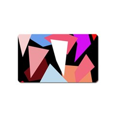 Colorful geometrical design Magnet (Name Card) by Valentinaart