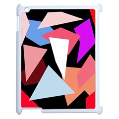 Colorful Geometrical Design Apple Ipad 2 Case (white) by Valentinaart