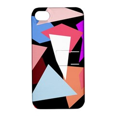 Colorful Geometrical Design Apple Iphone 4/4s Hardshell Case With Stand by Valentinaart
