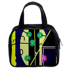 Crazy Abstraction By Moma Classic Handbags (2 Sides) by Valentinaart
