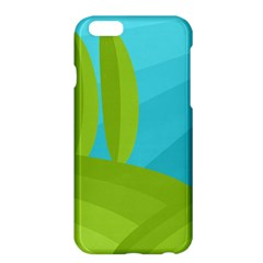 Green And Blue Landscape Apple Iphone 6 Plus/6s Plus Hardshell Case by Valentinaart