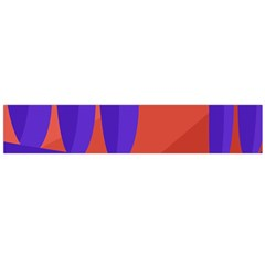 Purple and orange landscape Flano Scarf (Large) by Valentinaart