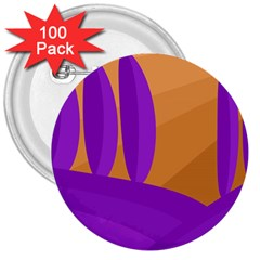 Orange And Purple Landscape 3  Buttons (100 Pack)  by Valentinaart
