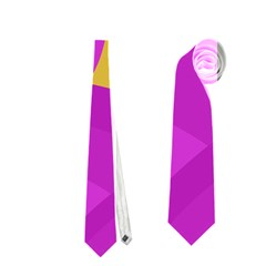 Yellow And Magenta Landscape Neckties (two Side)  by Valentinaart