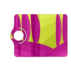 Yellow and pink landscape Kindle Fire HD (2013) Flip 360 Case by Valentinaart