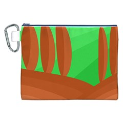 Green And Orange Landscape Canvas Cosmetic Bag (xxl) by Valentinaart