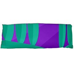 Purple And Green Landscape Body Pillow Case Dakimakura (two Sides) by Valentinaart