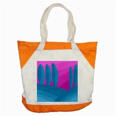 Pink And Blue Landscape Accent Tote Bag by Valentinaart
