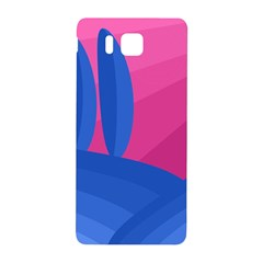 Magenta And Blue Landscape Samsung Galaxy Alpha Hardshell Back Case by Valentinaart