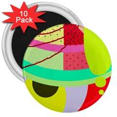Colorful abstraction by Moma 3  Magnets (10 pack)