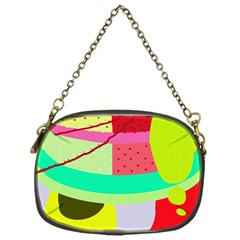 Colorful abstraction by Moma Chain Purses (One Side)  by Valentinaart