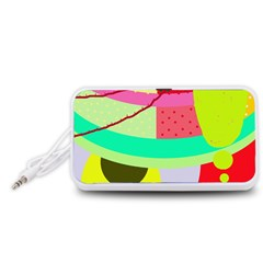 Colorful abstraction by Moma Portable Speaker (White)  by Valentinaart