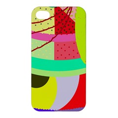 Colorful Abstraction By Moma Apple Iphone 4/4s Hardshell Case by Valentinaart