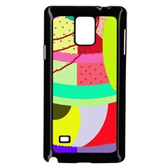 Colorful Abstraction By Moma Samsung Galaxy Note 4 Case (black) by Valentinaart