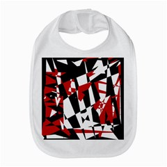 Red, Black And White Chaos Bib by Valentinaart