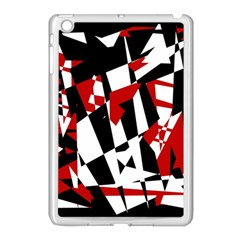 Red, Black And White Chaos Apple Ipad Mini Case (white) by Valentinaart