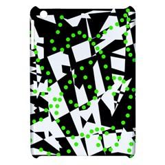 Black, white and green chaos Apple iPad Mini Hardshell Case by Valentinaart