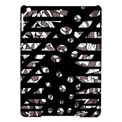 Gray Abstract Design Ipad Air Hardshell Cases by Valentinaart