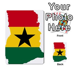Flag Map of Ghana Multi-purpose Cards (Rectangle)  by abbeyz71