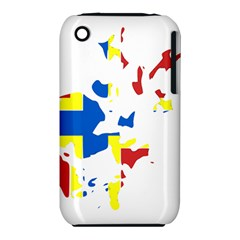 Flag Map of Orkney Islands  Apple iPhone 3G/3GS Hardshell Case (PC+Silicone) by abbeyz71
