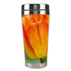 Orange Tulip M Stainless Steel Travel Tumblers by PhotoThisxyz