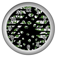 Freedom Wall Clocks (silver)  by Valentinaart